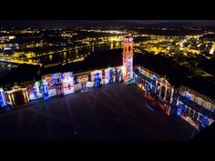 Videomapping Coimbra University aerial view - Videomapping Universidade ...