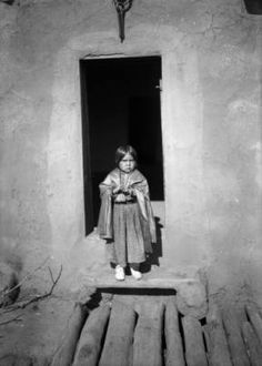 American Pueblo girl, at Taos Pueblo, New Mexico, 1890