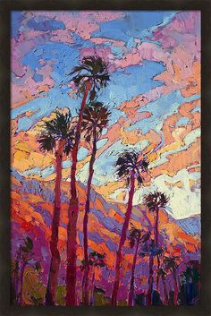 Contemporary Impressionism Art Gallery in San Diego California Featuring the Artwork of Erin Hanson Contemporary Landscape, Contemporary Paintings, Landscape Art, Landscape Paintings, Sunset Landscape, Oil Paintings, Contemporary Stairs, Contemporary Design, Contemporary Building