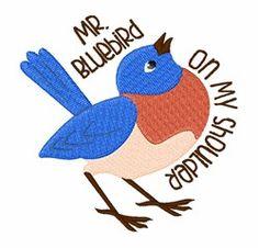 Mr Bluebird Embroidery Designs, Machine Embroidery Designs at EmbroideryDesigns.com