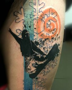 Snowboard tattoo