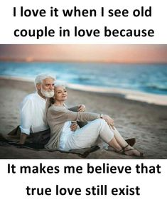 I saw that many old couples in love.... INNOCENT