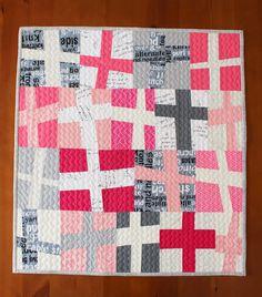 Teaginny Designs: Wonky Cross Quilt