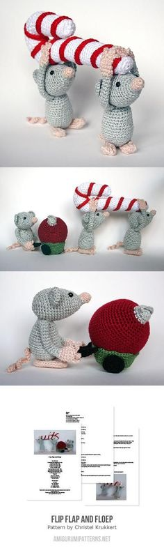 Flip, Flap and Floep amigurumi pattern by Christel Krukkert