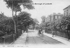 1900 A horse carriage ambles down Acre Lane towards central Brixton in this scene from 1900. To the right, you can just make out the turning into Trinity Square, situated between two sturdy Victorian villas. Note the large gardens lining the left hand side of the street. (pic: Lambeth Archives) Garden Line, Horse Carriage, Brixton, Making Out, Acre, Horses, London, Street, Villas