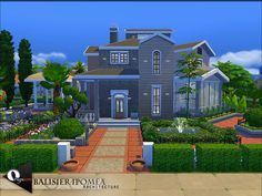 The Sims Resource: Balisier Ipomea house by Onyxium • Sims 4 Downloads