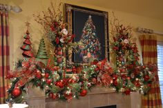 mantle ideas for christmas | My Christmas Mantle, Christmas is my favorite time of the year! You ...
