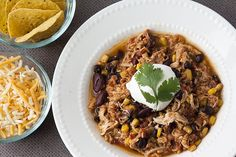 Taco Chicken Chili slow cooker