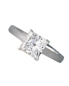 Glossary of Engagement Ring Cuts: Princess cut - a very popular diamond cut, the princess cut is a brilliant square stone.
