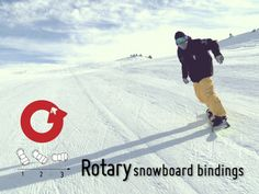 """Revolutionary Snowboard Bindings from Rotary by Michael Fultz, via Kickstarter.  Adjustable, rotating bindings make it easy to enable """"skate mode"""" on flat ground and make getting on and off the lift a breeze!"""