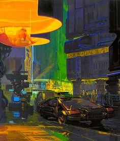 thegoodfilms:  Blade Runner concept art by Syd Mead