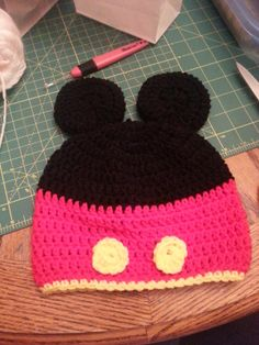 Mickey Mouse Crochet Hat by Becca Rewritten