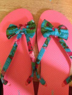 DIY Fabric Bow Flip-flops   Glitter In The Air