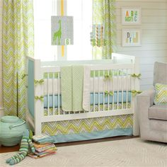 Lime Charades Nursery Decor | Gender Neutral