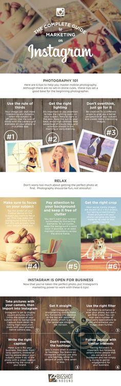Infographie: 7 conseils pour réussir ses photos Instagram
