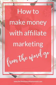 Can you make money with affiliate marketing from the start? Find out the answer in this blog post #makingmoney #affiliatemarketing