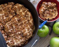 Dutch Oven Caramel Apple Pie - Saturday night contest