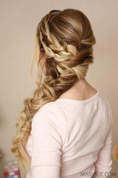 I am so excited about today's tutorial! I really wanted to change up a side braid and make it look intricate and formal with a hint of bohemian flair. My favorite thing about this style is how easy it is to replicate. It looks tricky and difficult but once you take it piece by piece it all magically falls together into this gorgeous mermaid braid. Looking back, I think it would be just as easy to pin the braids and twists before creating the tail but I really wanted those to drape over the…