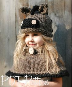Knitting PATTERN-The Hynter Horse Set (Toddler, Child and Adult sizes)