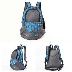 20.99  Pet Carrier Shoulders Back Front Pack Dog Cat Travel Bag Mesh  Backpack Head. RyggsäckarHund ... 522b27ac630bd