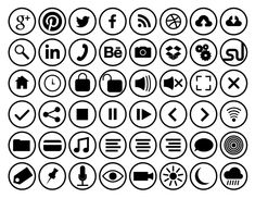 Outline Flat circle icons