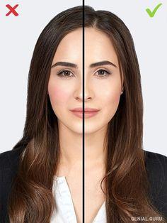 10 Errores de maquillaje que te agregan años. 6-Colorete en medio de las mejillas. Diles adiós a los coloretes oscuros o demasiado llamativos, presta atención a los tonos claros, rosa o durazno. Aplícalos sobre la parte superior de las mejillas, no en el medio. Tampoco apliques rubor muy cerca a la nariz. Un tono suave y natural le dará a tu cara un toque romántico, joven, y el colorete aplicado en los pómulos dará el efecto de mini lifting.