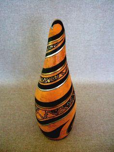 Main peinte Gourd Unique OOAK objet d'Art signé Art par IshiGallery
