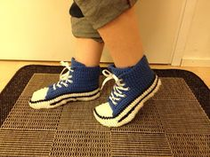 Crochet tennis shoes