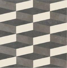 Pavimento/rivestimento in gres porcellanato smaltato AZULEJ NERO CUBO Collezione AZULEJ by MUTINA   design Patricia Urquiola