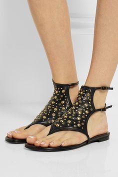 Tamara Mellon Embellished leather sandals