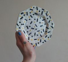 Speckle-Spot-Squiggle Glitter Dish. by ELAICHDESIGNS on Etsy