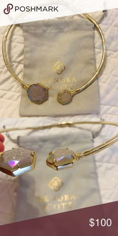 f3ba9198f Kendra Scott Coursen Necklace Very good condition KS Necklace with  iridescent stones in gold Kendra Scott