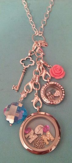 mini locket, dangles and large locket! original pic copyrighted by mina drake espace designs, please credit when borrowing.