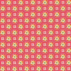 Fower pattern red