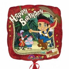 """Happy Birthday!"" Jake & Neverland Pirates 18"" Balloon Mylar by Anagram, http://www.amazon.com/dp/B008W5ABKY/ref=cm_sw_r_pi_dp_kf3-qb1QK9EHC"