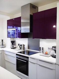 meuble-de-cuisine-delinia-composition-type-aubergine-violet ... - Meuble Cuisine Violet