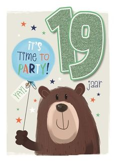 It's time to party, 19! #Hallmark #HallmarkNL #verjaardag #jarig #19 #party #birthday #allaboutgus