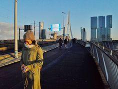 Puente al puerto de #Rotterdam, #PaísesBajos #ÓrdagoAErasmus de #Pilar