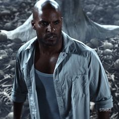 New party member! Tags: starz american gods shadow moon ricky whittle