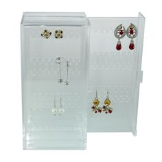 Store and organize your earrings with the Earring Storage Drawer. The drawer is made from clear acrylic plastic for easy identification Acrylic Plastic, Clear Acrylic, Earring Storage, How To Make Earrings, Storage Drawers, Organization, Organize, Crafts, Store