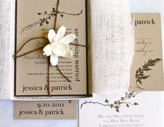 White burlap for invites!