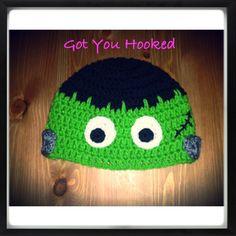 Halloween crochet hat