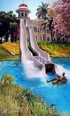 slide to pool