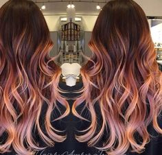 Ombré rose gold