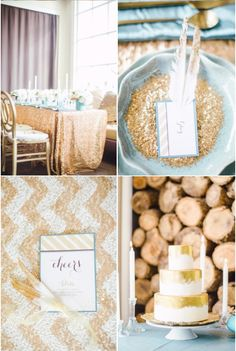 Gorgeous combination of glitter and gold in this #NYE party