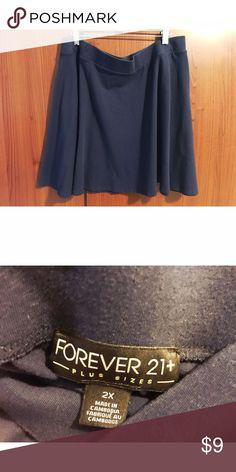 Navy blue skater skirt Forever 21+ baby blue skater skirt Forever 21 Skirts Mini