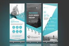 Ad: Business Roll-Up Banner by ThemeDevisers on This is Business Roll-Up Banner. So clean and Modern design for banner, roll up, x banner, stand banner, and more. Pull Up Banner Design, Standing Banner Design, Bunting Design, Rollup Banner, Web Design, Graphic Design Tips, Modern Design, Rollup Design, Company Banner