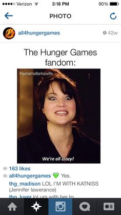 Lol haha funny pics / Pictures / Jennifer Lawrence / Hunger Games Humor