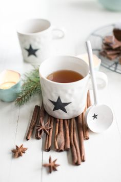 Minty House for Pure Passion Magazine, Christmas tea, Bloomingville, cinnamon, stars