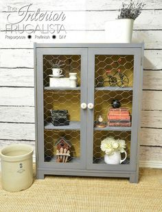 Vintage Bookcase to Farmhouse Cabinet After | The Interior Frugalista